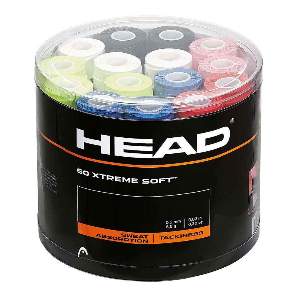 Xtreme Soft Tennis Overgrip 60 Piece Jar