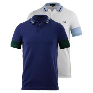 Men`s Panelled Sleeve Pique Tennis Polo