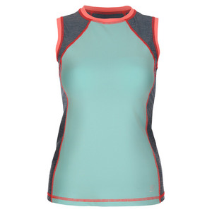 Women`s Classic Sleeveless Tennis Top Frosted Aqua