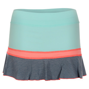 Women`s 12 Inch Tennis Skort Frosted Aqua