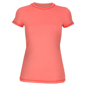 Women`s Short Sleeve Tennis Top Sorbet