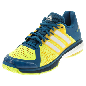 Men`s Tennis Energy Boost Shoes Unity Blue and White