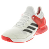ADIDAS Men`s Adizero Ubersonic 2 Tennis Shoes White and Ray Red
