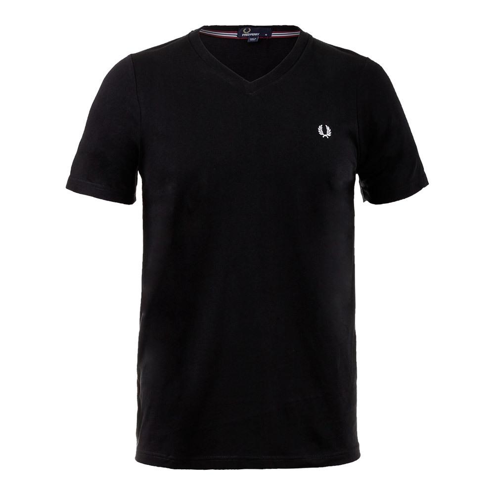 Men's V- Neck Tennis Tee Black