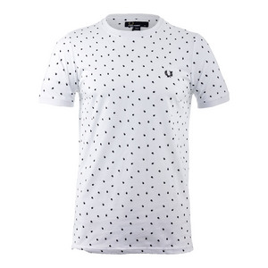 Men`s Shadow Polka Dot Tennis Tee White