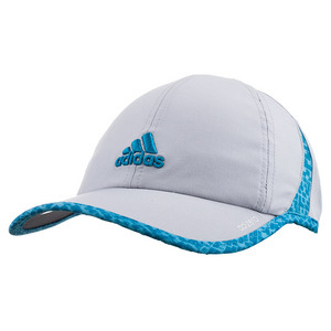 Women`s Adizero II Tennis Cap Clear Onix and Bright Cyan