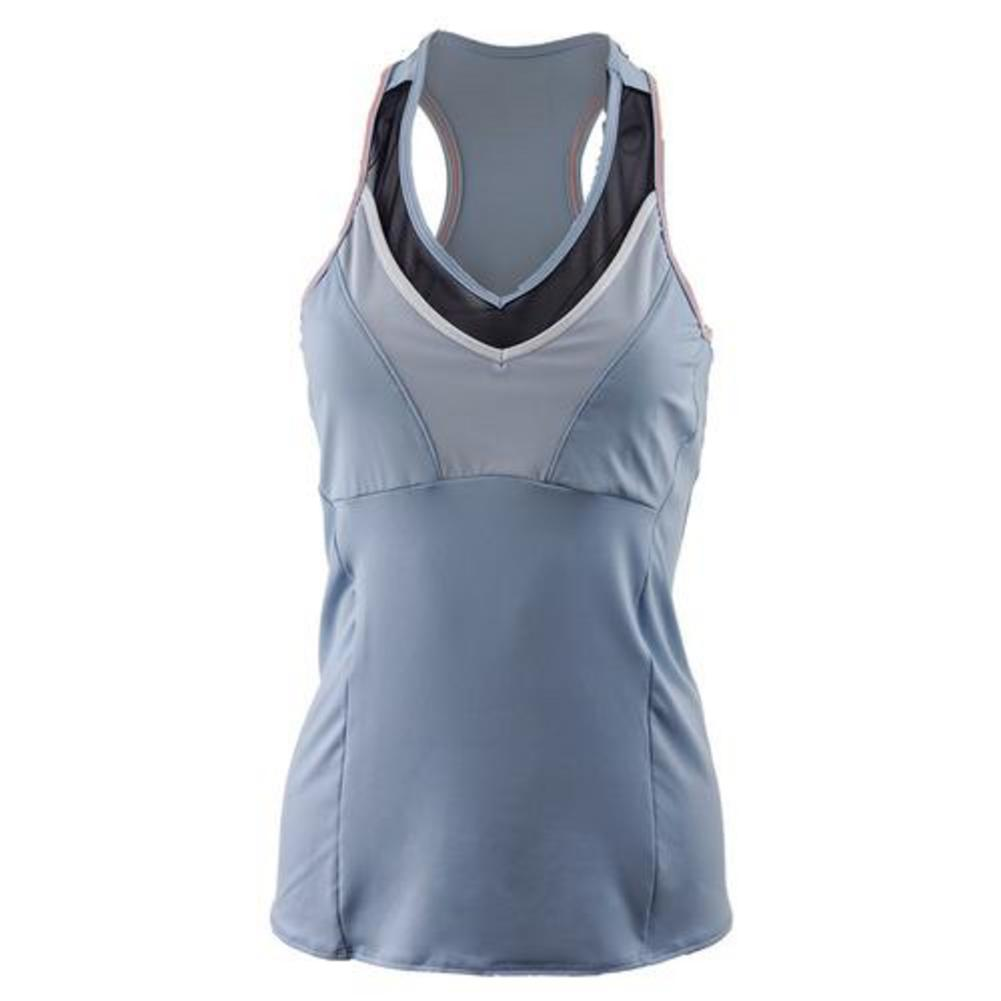 Women's Mesh V- Neck Tennis Racerback Cloud