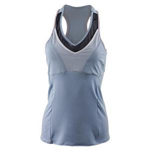 Women`s Mesh V-Neck Tennis Racerback Cloud