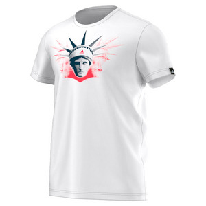 adidas MENS US OPEN GRAPHIC TNS TEE WHITE