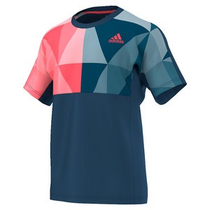 adidas MENS PRO TNS TEE TECH STEEL/FLASH RED