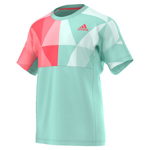adidas MENS PRO TNS TEE ICE GREEN/FLASH RED