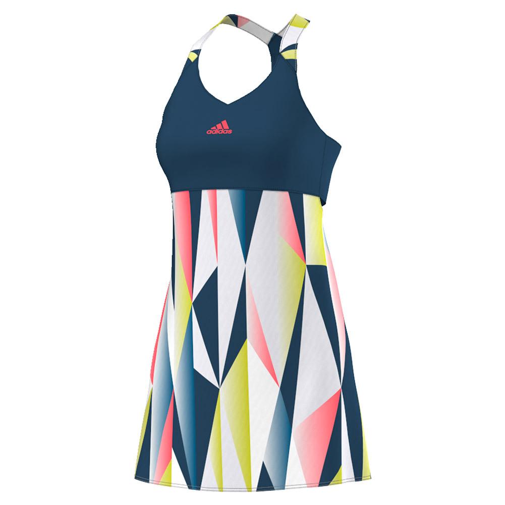 Women's Pro Tennis Dress Tech Steel And White