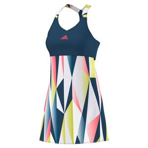 Women`s Pro Tennis Dress Tech Steel and White