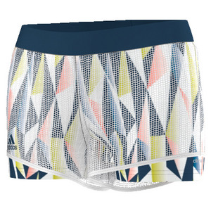 adidas WOMENS PRO TENNIS SHORT WHITE/TECH STEEL