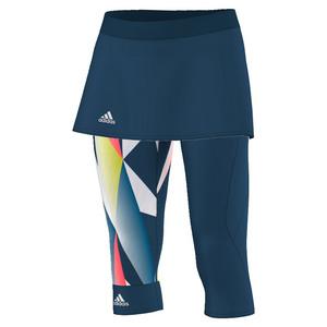 adidas WOMENS PRO TENNIS SKORT LEGGINGS T ST/WH