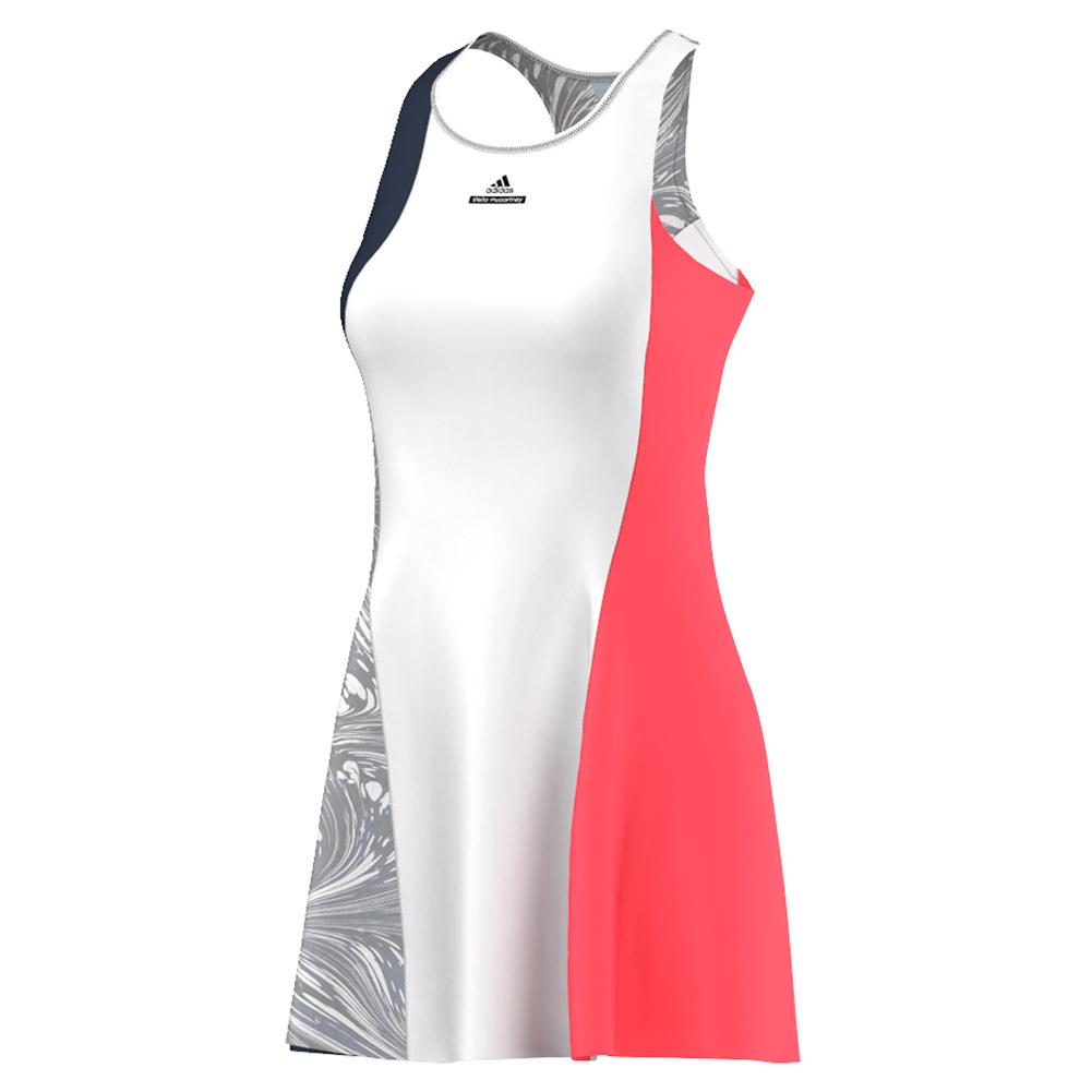 Women's Stella Mccartney Barricade New York Tennis Dress Collegiate Navy And Wht
