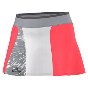 Women`s Stella McCartney Barricade 12 Inch NY Tennis Skort Flash Red and Oyst Gy