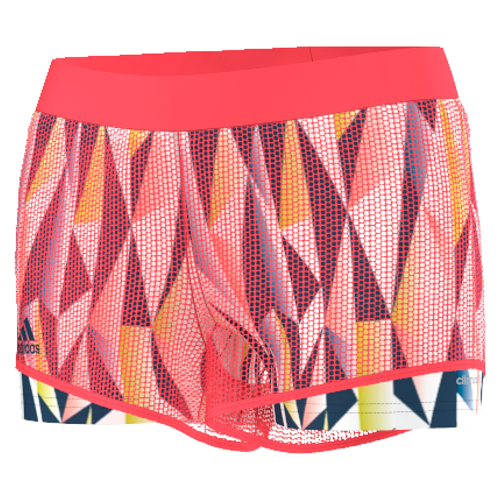 Women's Pro Tennis Short Flash Red And Tech Steel
