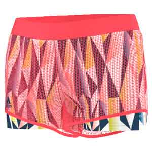 Women`s Pro Tennis Short Flash Red and Tech Steel