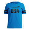 Mens Dry Short Sleeve Running Top Light Photo Blue by NIKE