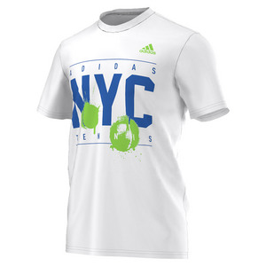 adidas MENS ADI NYC TENNIS TEE WHITE