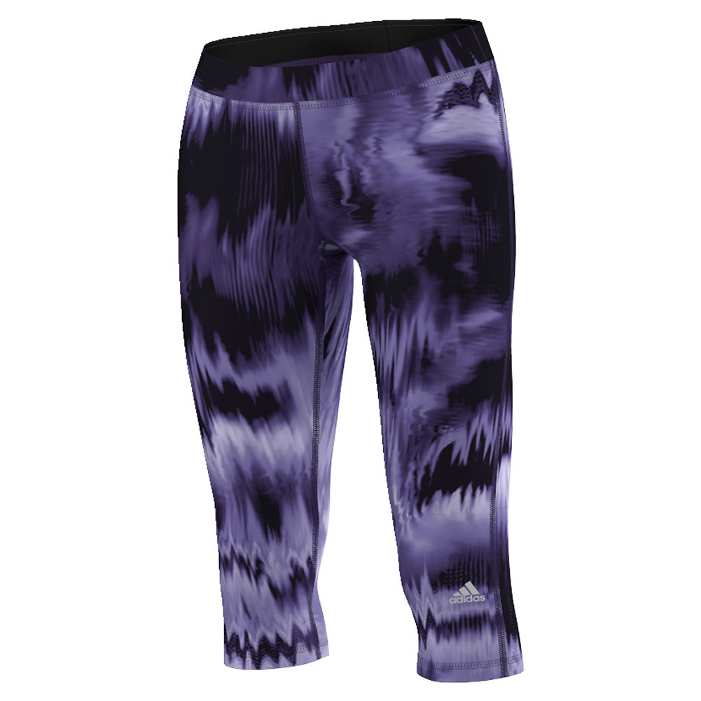 Women's Techfit Brush Glitch Print Capri Unity Purple