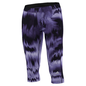 Women`s Techfit Brush Glitch Print Capri Unity Purple