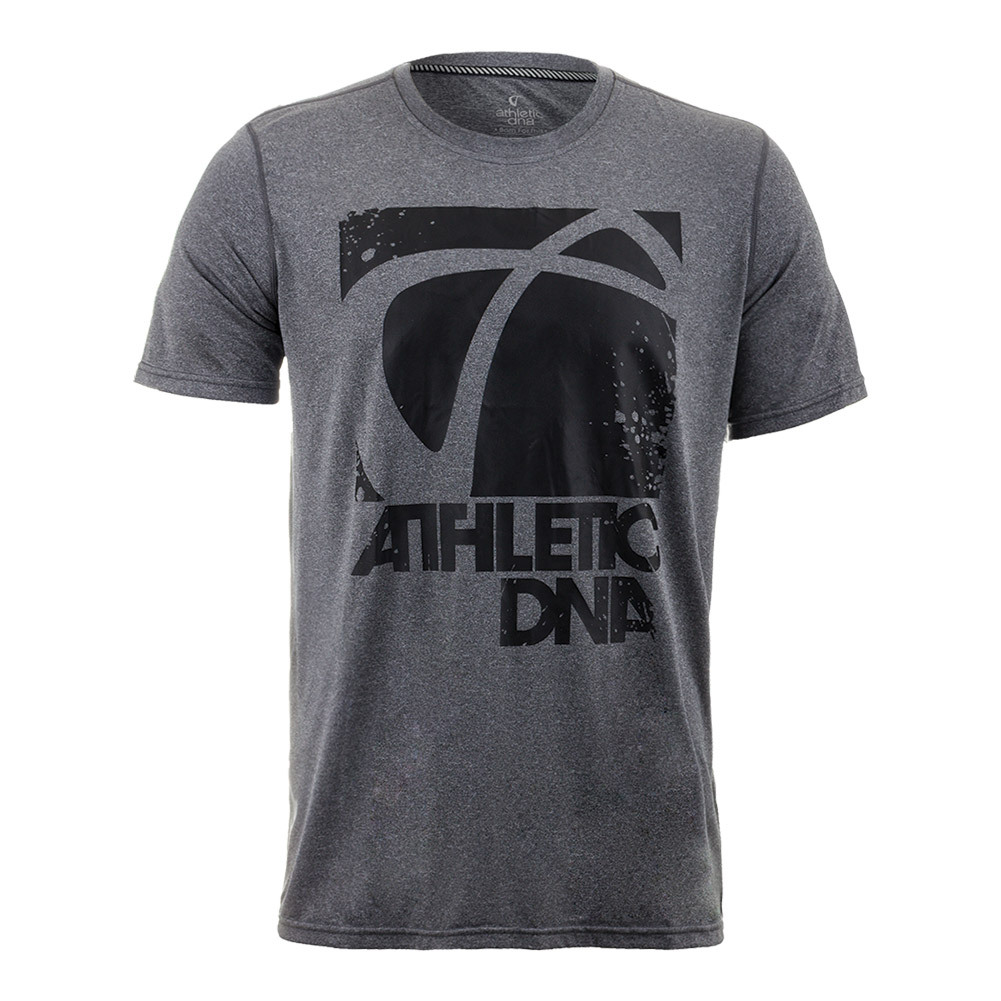 Boys ` Graphic Tennis Tee Dark Heather Gray
