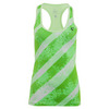 ATHLETIC DNA Women`s Splash Refresh Tennis Tank Lime