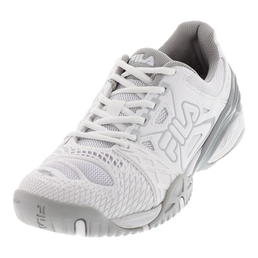 Women's Cage Delirium Tennis Shoes White And Metallic Silver