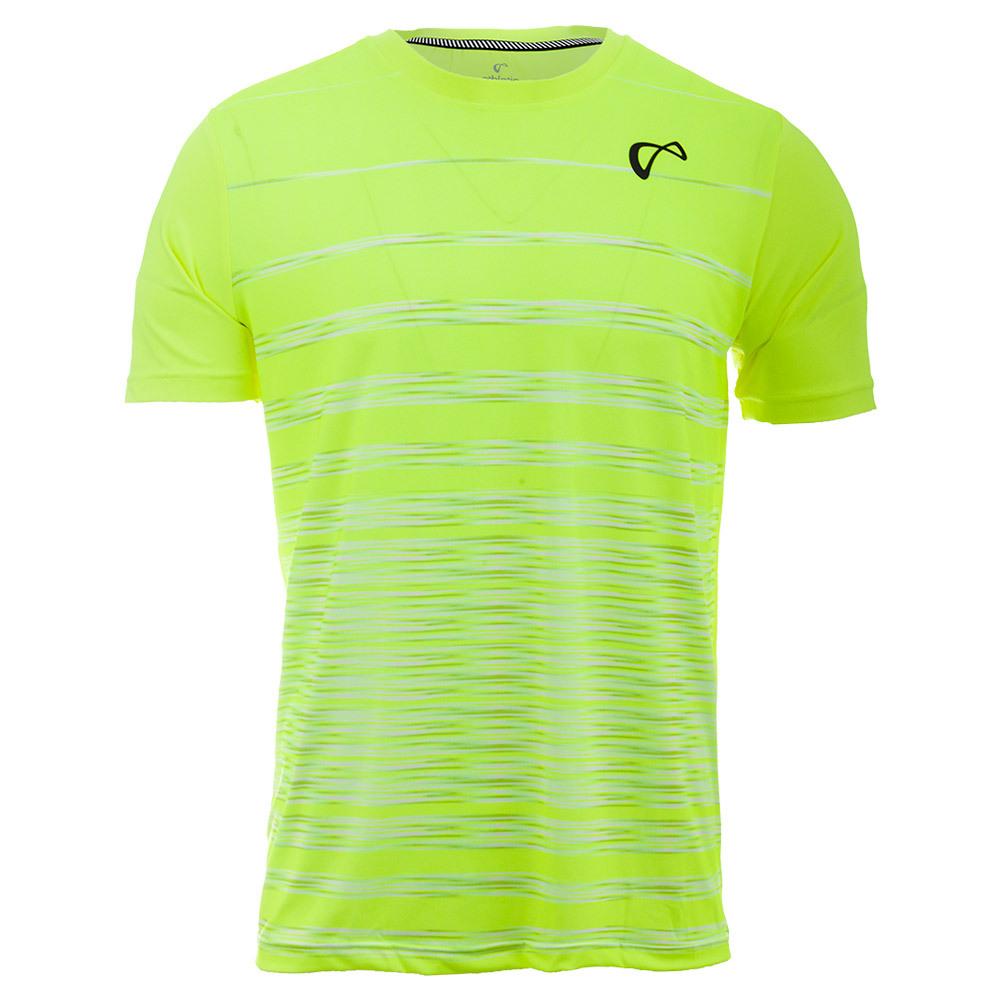Men's Hombre Stripe Tennis Crew Yellow