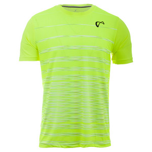 Men`s Hombre Stripe Tennis Crew Yellow