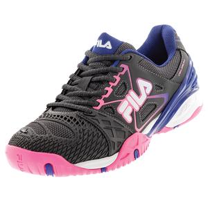 Women`s Cage Delirium Tennis Shoes Dark Shale and Pink Glow