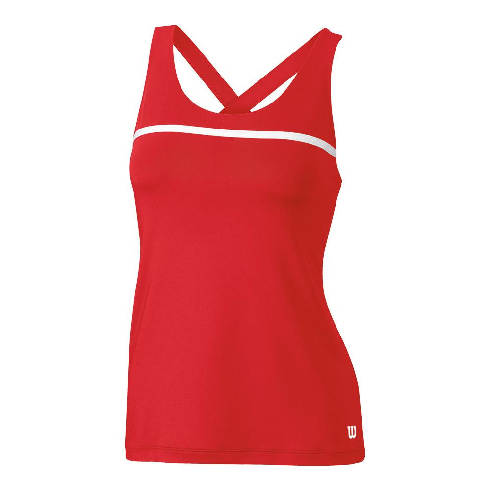 Women's Team Tennis Tank Wilson Red
