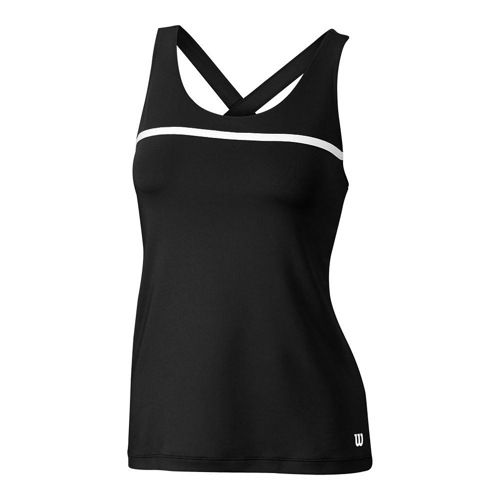 Women's Team Tennis Tank Black
