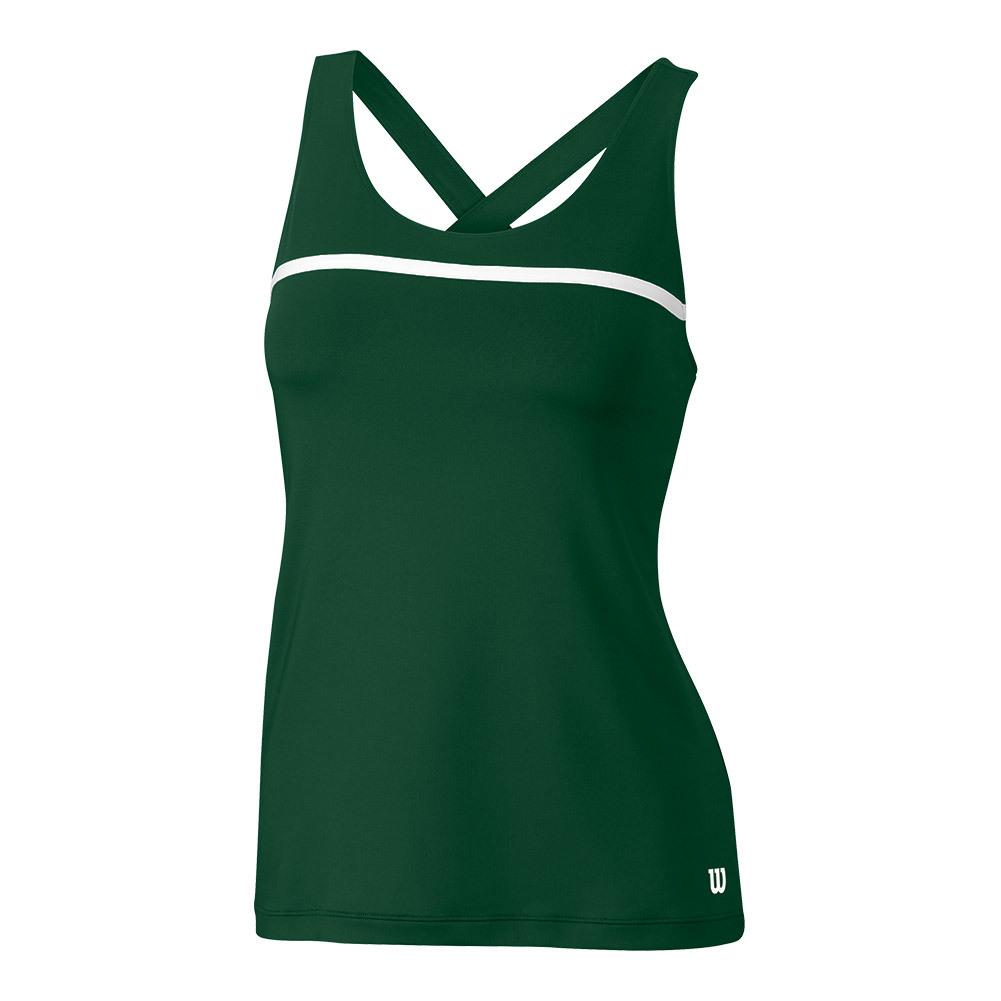Women's Team Tennis Tank Forest Green