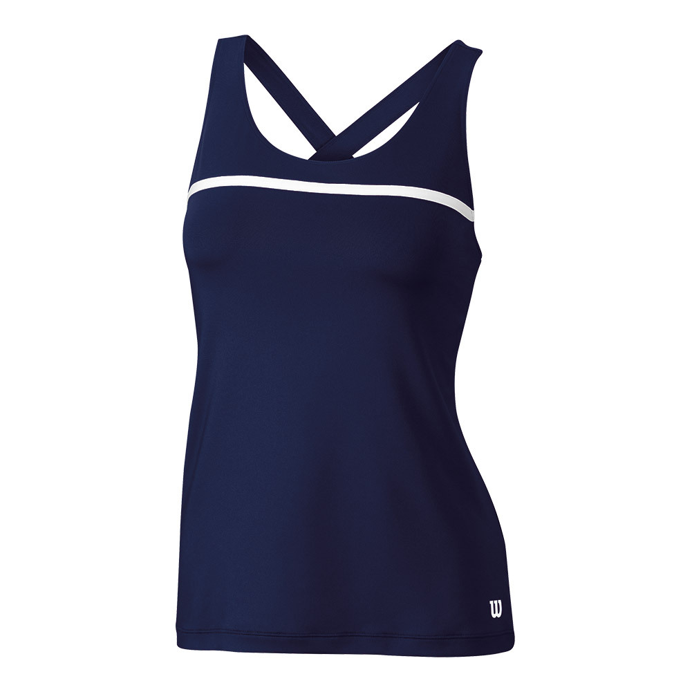 Women's Team Tennis Tank Navy