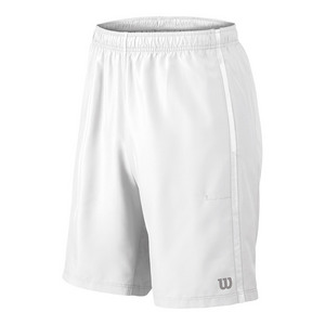 Men`s Woven 10 Inch Tennis Short White