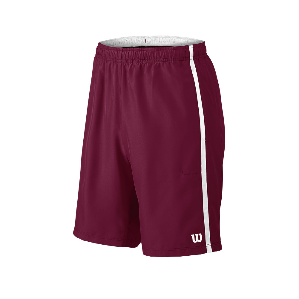 Men's Woven 10 Inch Tennis Short Cardinal