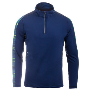 Men`s Light Lines Accelerate 1/4 Zip Tennis Top Blue Depths