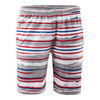 ATHLETIC DNA Men`s Revolution Stripe Woven Tennis Short Red and White