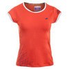 BABOLAT Girls` Perf Cap Sleeve Tennis Top Red