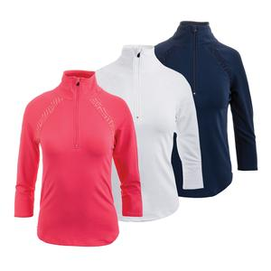 Women`s Wedge Half Zip Tennis Top