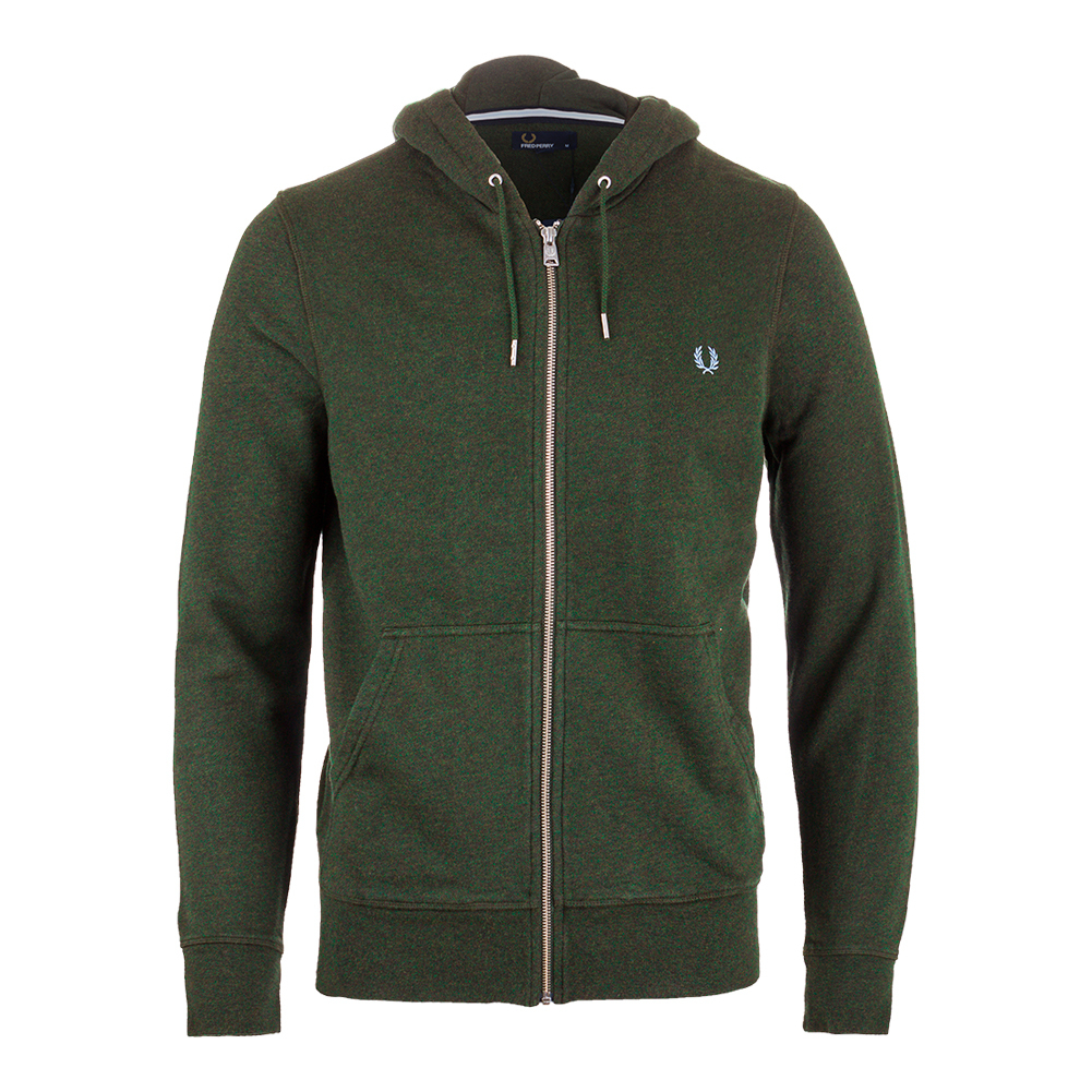 Men's Loopback Hooded Tennis Sweat British Racing Green