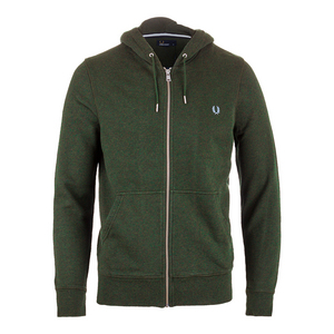 Men`s Loopback Hooded Tennis Sweat British Racing Green