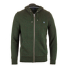 Men`s Loopback Hooded Tennis Sweat British Racing Green by FRED PERRY