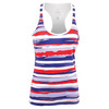 ATHLETIC DNA Women`s Liberty Stripes Refresh Tennis Tank Red and White