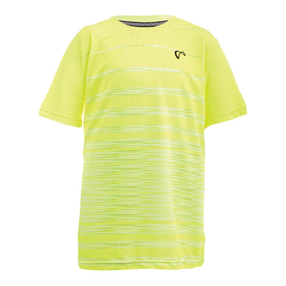 Boys ` Hombre Stripe Tennis Crew Yellow