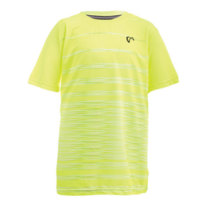 Boys` Hombre Stripe Tennis Crew Yellow