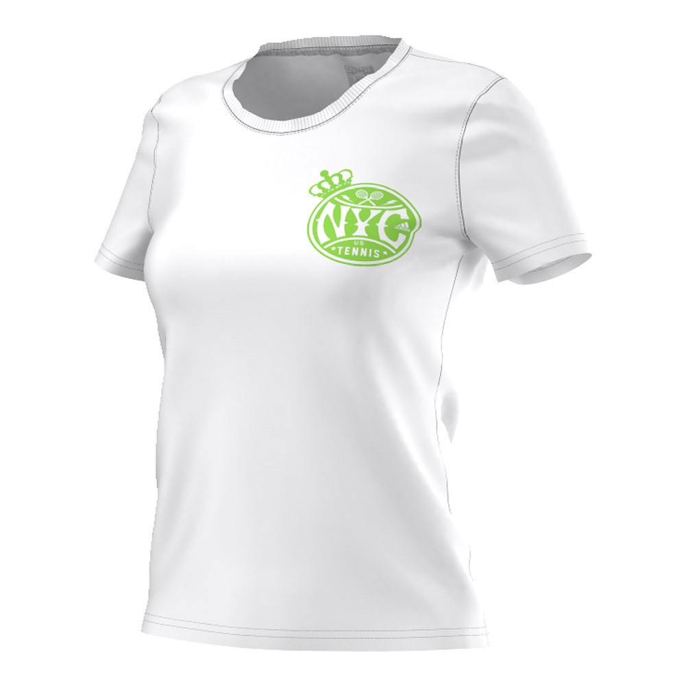 Women's Adi Us Open Tennis Tee White